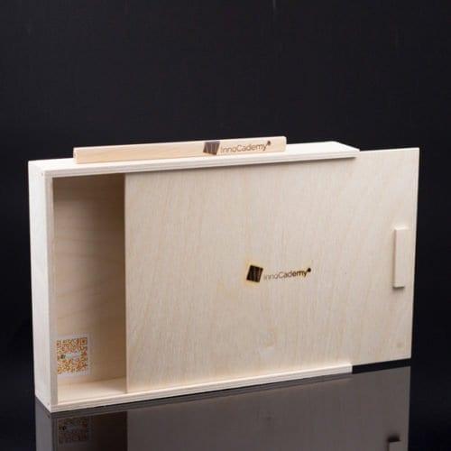 Leere Ideen-Toolbox aus Holz für Ideen- und Methodenkarten - Workshoptools online bestellen