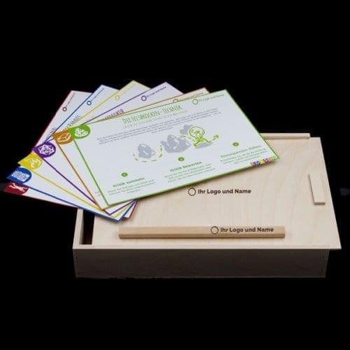Ideentoolbox Größe S: Set zur systematischen Ideenentwicklung - individualisierbar mit eigenem Logo