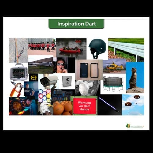 Inspirationsposter Motive 1: Kombinationen für Inspirations-Dart - Innovationsworkshop Tools Onlineshop