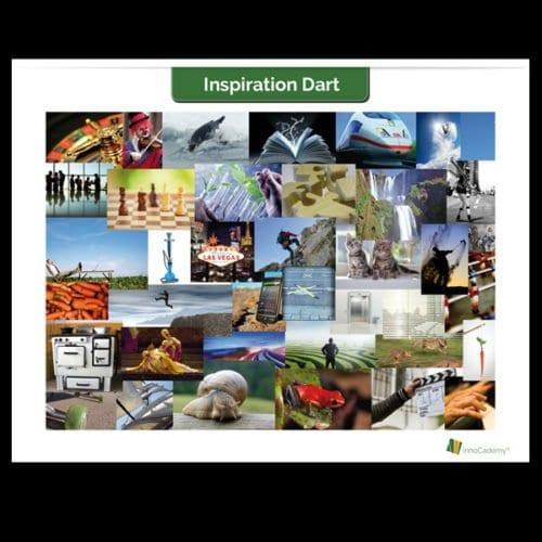 Inspirationsposter Motive 2: Kombinationen für Inspirations-Dart – Innovationsworkshop Tools Onlineshop