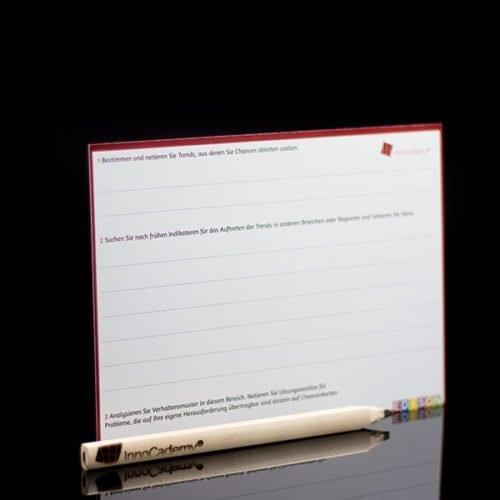 Die Glaskugel Methodenkarte Rückseite - Ideenentwicklung nach dem Edison-Prinzip - Onlineshop für Workshopmaterial