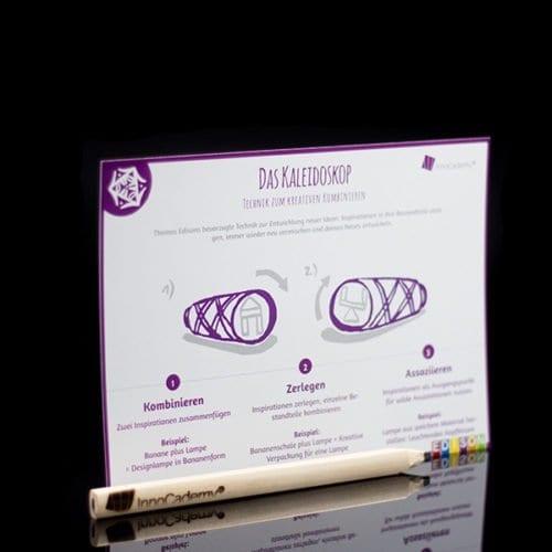 Methodenkarte Kaleidoskop für Innovationsworkshops und Ideenentwicklung