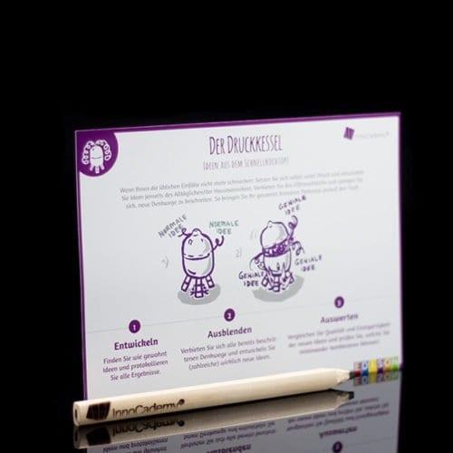Der Druckkessel - Methodenkarte für Innovationsworkshops online bestellen