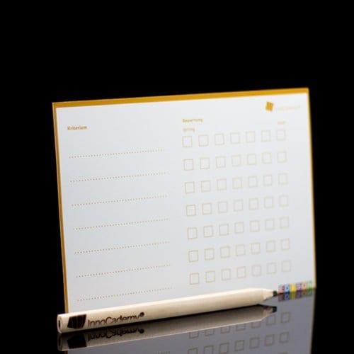 Kriterienanalyse Methodenkarte Rückseite - Ideenentwicklung nach dem Edison-Prinzip - Onlineshop für Workshopmaterial