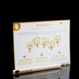 Kriterienanalyse - Methodenkarte für Innovationsworkshops online bestellen