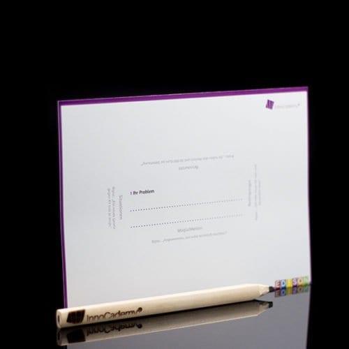 Rahmenwechsel - Methodenkarte Rückseite - Ideenentwicklung nach dem Edison-Prinzip - Onlineshop für Workshopmaterial