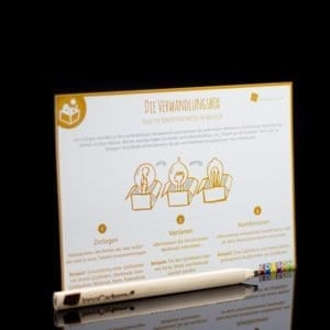 Die Verwandlungsbox - Methodenkarte für Innovationsworkshops online bestellen