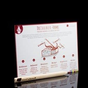 Die ZAUBER-Formel - Methodenkarte für Innovationsworkshops online bestellen