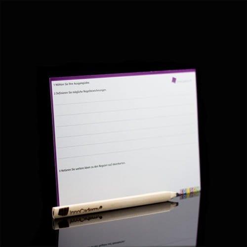 Billy Ideenregal Methodenkarte Rückseite - Ideenentwicklung nach dem Edison-Prinzip - Onlineshop für Workshopmaterial